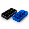 Custom Colors 4 Packs Ice Cube Tray Large 8 Cavity Silicone Mold Ice Spherical Square Ice Cream Mold