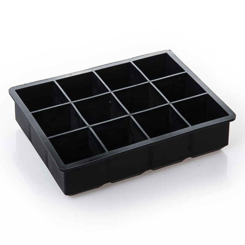 Food Grade Silicone Ice Cube Tray Diy Ice Cream Mold Kitchen 12 Grids Silicone with Lids