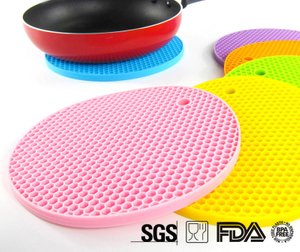 E Spring Custom Colors New Products Silicone Trivet Mats Heat Resistant Kitchen Table Mat Dinner Mat Silicone Trivet Mat