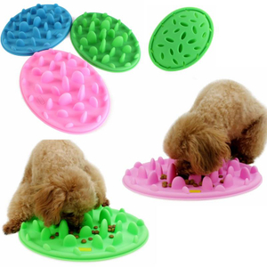 Hot Amazon Pets Dog Cats Silicone Cat Kitten Mat Slow Food Feed Non Slip Anti Gulping Feeder Bowl Pet Mat