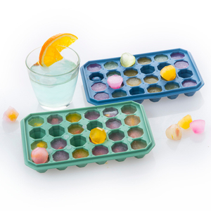 FDA Approved Silicone Tray Ice Cube 24 Cavity Diamond Shaped Ice Cube Trays Silicone