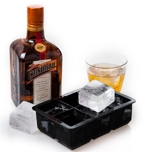 Wholesale New FDA food grade Reusable 6 cavity Ice Cube Tray Silicone Ice Square Mold ice silicon mold